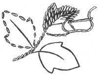 Выполнение вышивки гладью